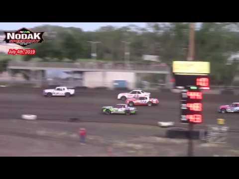 Nodak Speedway IMCA Hobby Stock King of the Hill Races (7/4/19)