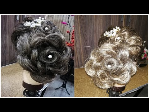 Hair Puff with Layers – Perfect Rose Hairstyle – Step By Step