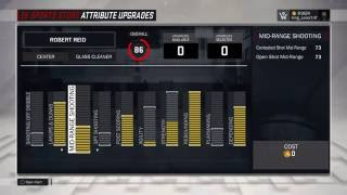 NBA 2K17 BEST CENTER BUILD ATTRIBUTE UPGRADE!!!! 73 MID FOR GLASS CLEANER!!!