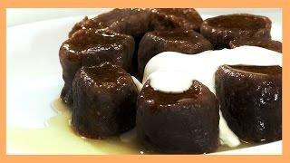 Шоколадные ленивые вареники. Chocolate lazy pierogi.