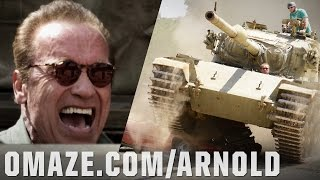 Repeat youtube video Tanks for Nothing Official Trailer: Arnold, a Fan, and a Tank vs. Harley Morenstein