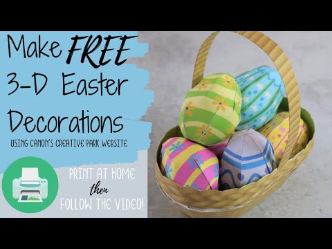 Make FREE 3-D Easter Decorations!
