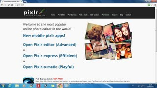 Tutorial do Editor Online Pixlr