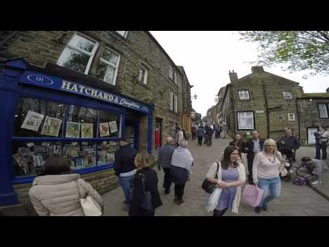 Haworth High Street - Bronte country.