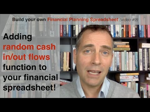 Build your own Financial Planning Spreadsheet (part 9) - Adding variable cash in/out flows