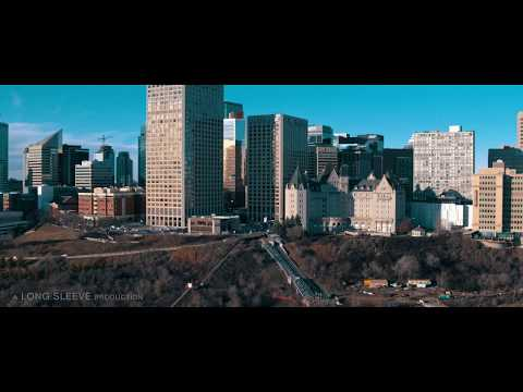 Edmonton from the air in 4K