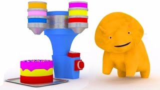 Learn colors with the Birthady cake and Dino the Dinosaur | Educational cartoon for children