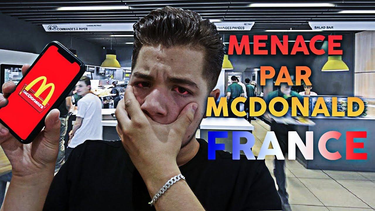 J'AI RECU DES MENACES DE MACDO FRANCE 🇫🇷