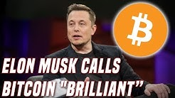 "Elon Musk Calls Bitcoin ""Brilliant"" 
