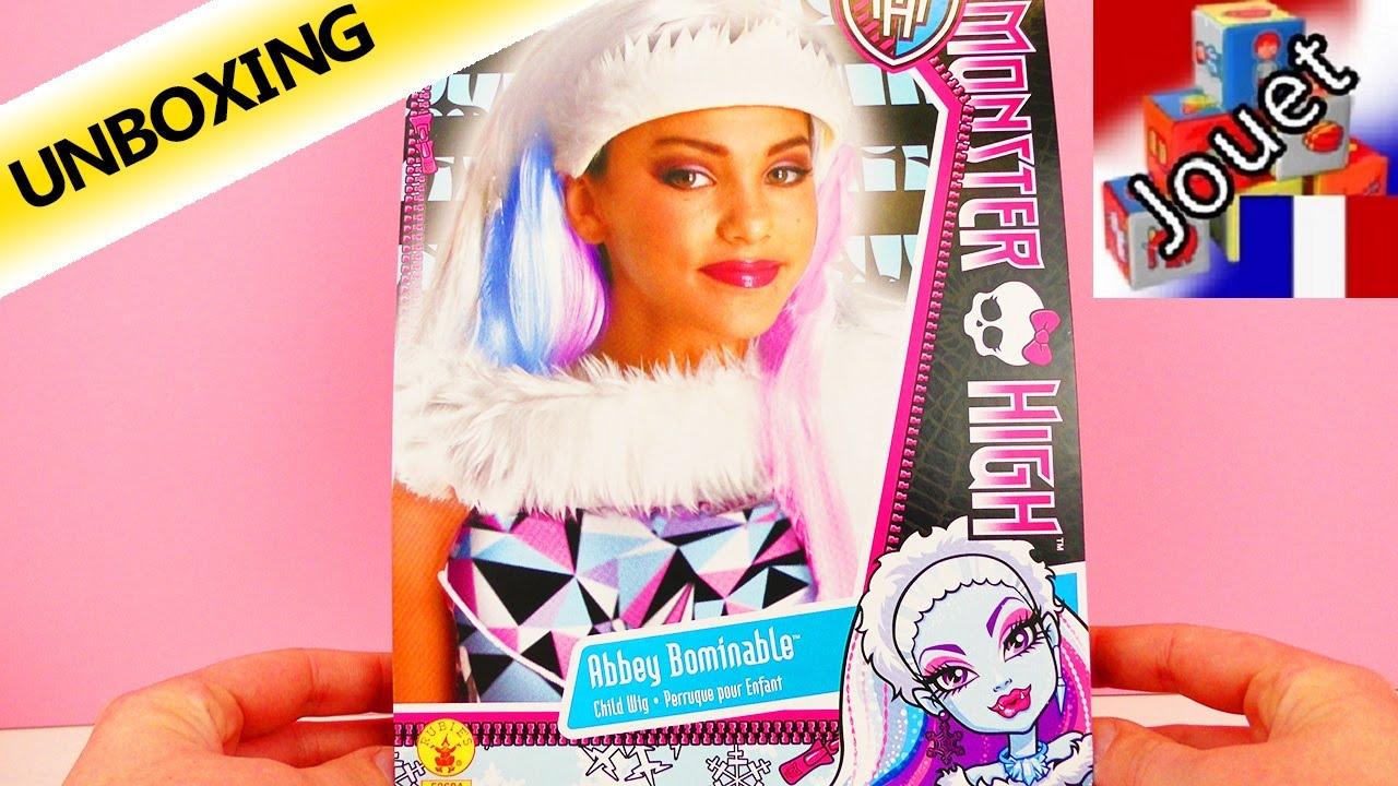 Attractive Se Deguiser En Fille #12: Se Déguiser En La Fille Du Yéti | Perruque Monster High Abbey Bombinable |  Unboxing