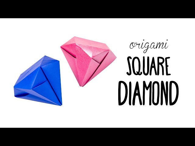 Easy Origami Square Diamond Tutorial ♥︎ No Glue ♥︎ Paper Kawaii