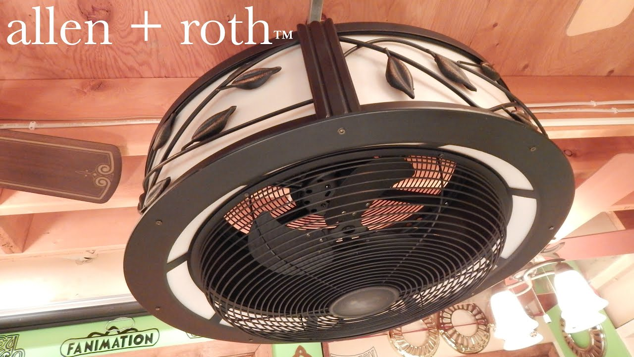 Allen Roth Eastview Ceiling Fan Youtube