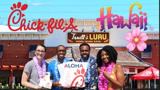 We Ate At The Only Hawaiian Themed Chick Fil A In The World   Truetts Luau