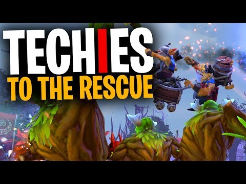 Techies to the Rescue - DotA 2 Funny Moments