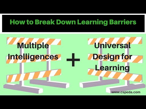 How to Break Down Learning Barriers:  Multiple Intelligences With Universal Design For Learning