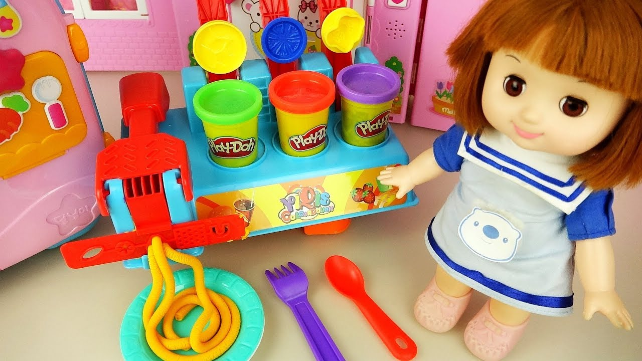 Baby Doll color bread and dessert maker and baby Doli cute music - ToyPudding