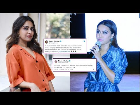 Swara Bhasker urges Mumbai police to take action against abusive troll, cops come to her rescue Mp3