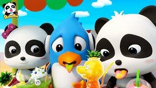 Baby Panda's Dinosaur Shaped Juice   Wonderful Fruit Juice Van   Nursery Rhymes  Kids Songs  BabyBus