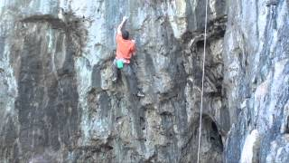 Pete Robins on Primeval E5/7a Crinkle Crags