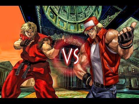 Ken Masters Vs Terry Bogard - Street Fighter vs Fatal Fury - Epic Battles - 동영상