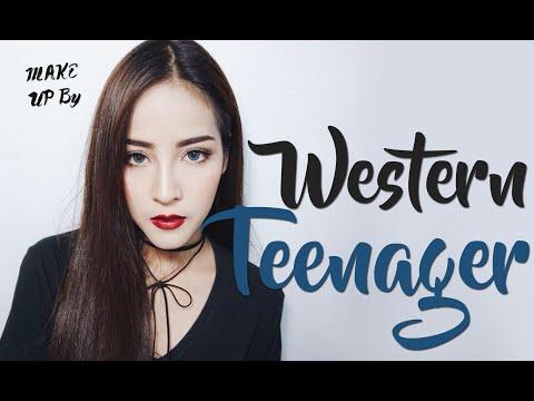 Makeup Western teenager แต่งหน้าง่ายๆสไตล์วัยรุ่นฝรั่ง   By Soundtiss