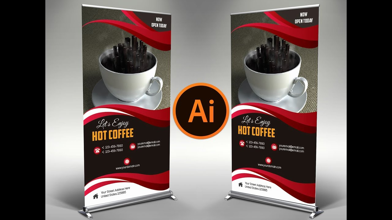 how to design a exclusive coffee shop brochure in adobe