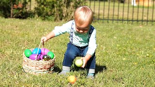 First Backyard Easter Egg Hunt, Easter Basket Haul & A BBQ Lunch Feast! | Holiday Home Vlog