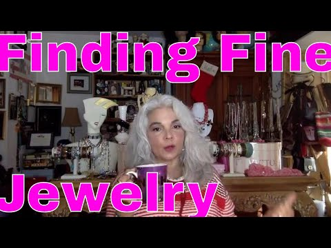LIve Q & A How I spot real gold jewelry & fine Costume, Vint