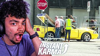 Reacting to Instant Karma but it's IDIOTS IN CARS!!!