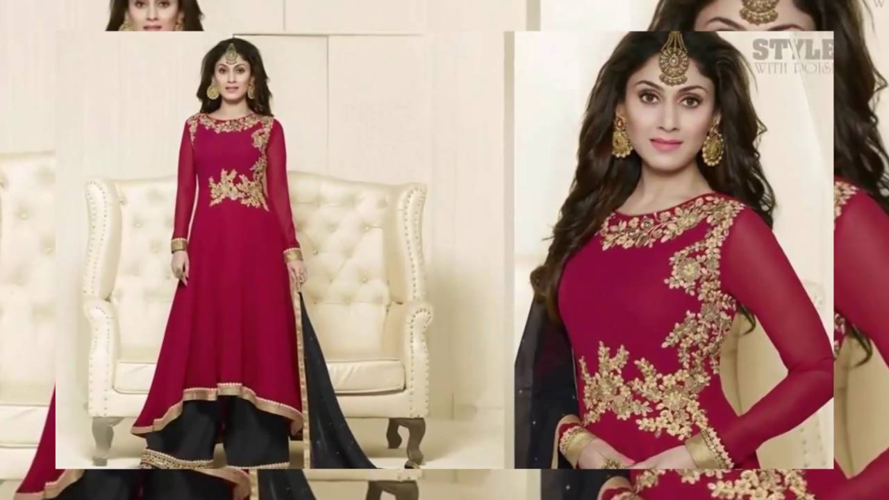 26809ff4a2 Heavy Designer Salwar Churidar Palazzo Suit EID Collection 2016 | latest  indian fashion collection - YouTube