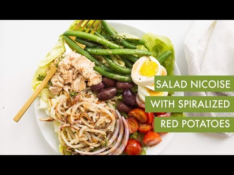 Salad Nicoise with Spiralized Red Potatoes | Spiralizer Recipe