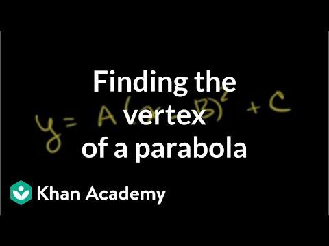 Finding the vertex of a parabola example   Quadratic equations   Algebra I   Khan Academy