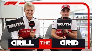 Sauber's Marcus Ericsson and Charles Leclerc | Grill the Grid: Truth or Lie?