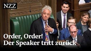 Order, Order! Der britische House-Speaker John Bercow tritt zurück