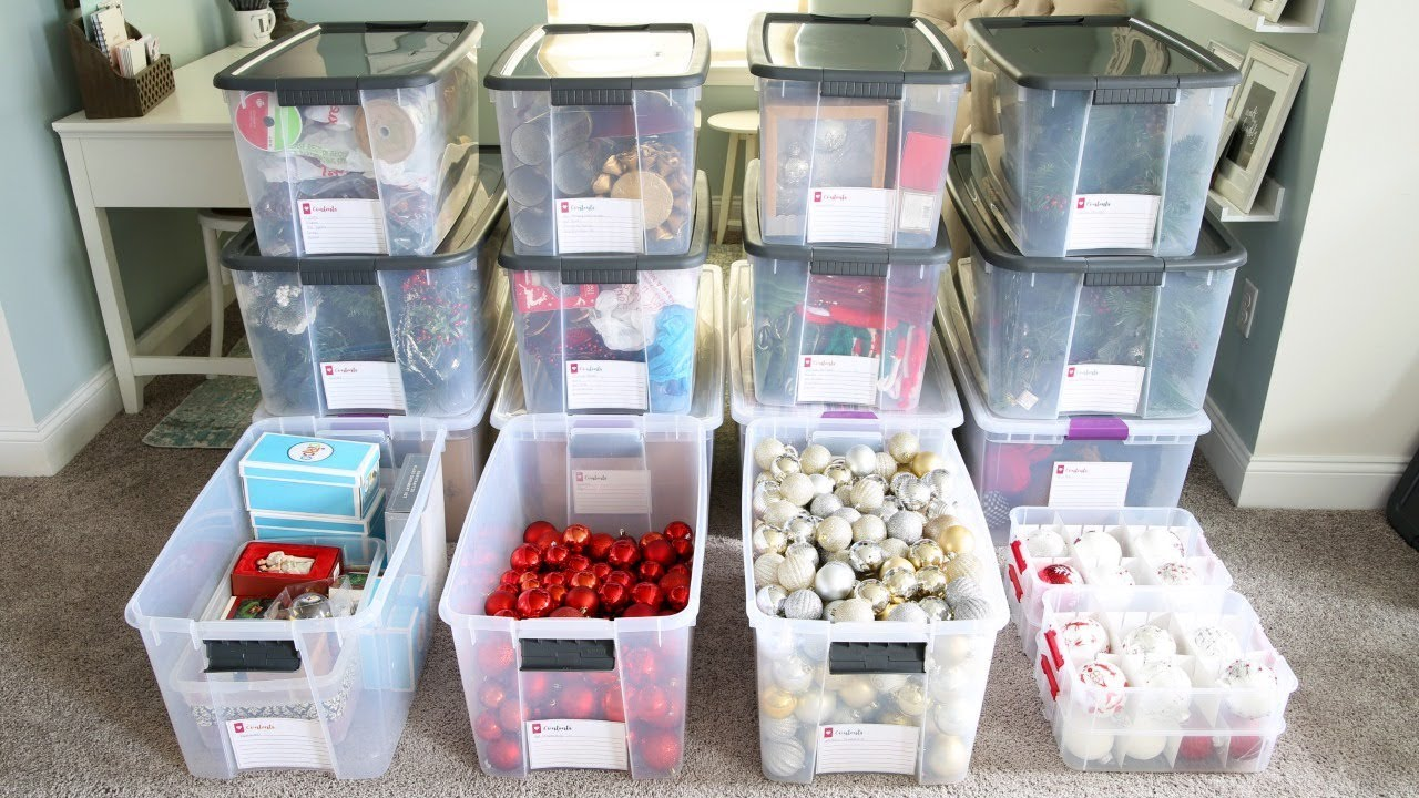 how to organize storage bins organizing christmas decorations - How To Organize Christmas Decorations
