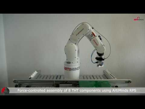 DENSO Robot Performing high-speed THT Assembly