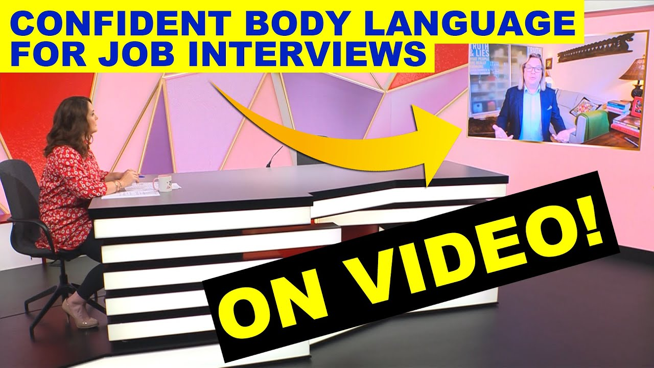 Confident Body Language in a Job Interview on Video