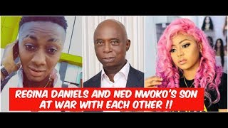 Regina Daniels And Ned Nwoko39s Son At  Wr With Each Other