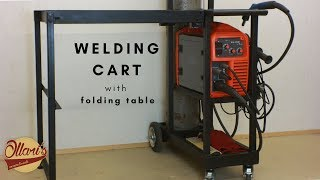 Ultimate Welding Cart with Folding Table Extension