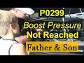 Boost pressure regulation, Control range not reached P0299 TDI 3.0
