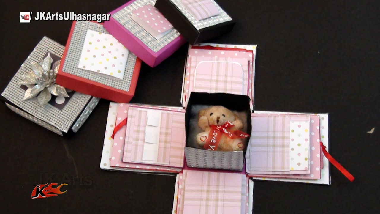 How To Make Exploding Box Scrapbook Box Valentines Day Gift