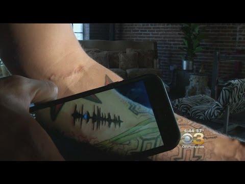 7e9f80949 Tattoo Artist Creates Tattoos That Play Music - YouTube