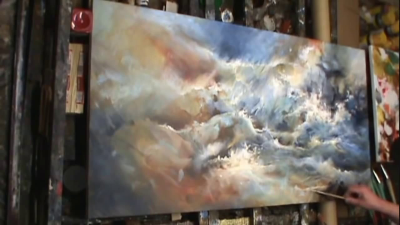 Painting Turmoil Modern Contemporary Art Mix Lang How To
