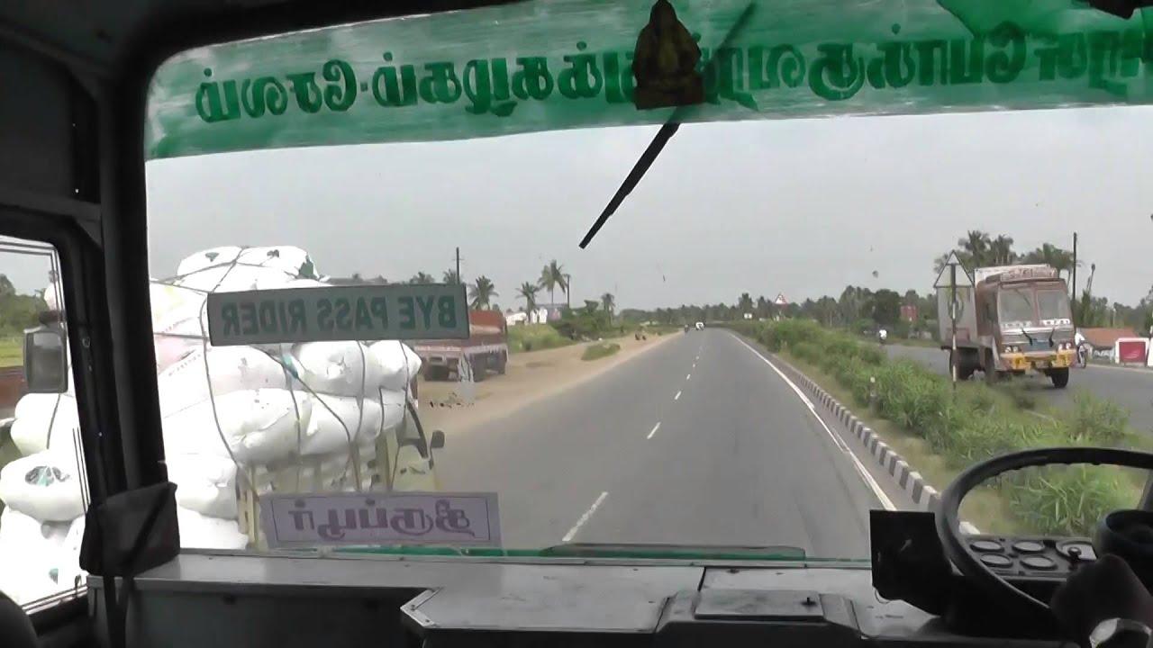 India Tamilnadu Perundurai to Bhavani bus route , Erode district year 2014