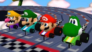 Mario Party 2 - All Racing Minigames