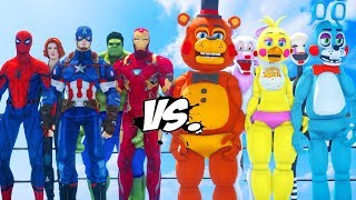 THE AVENGERS VS FIVE NIGHTS AT FREDDY'S - EPIC BATTLE