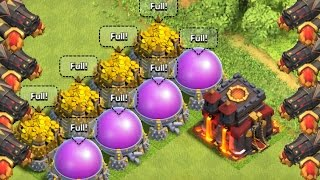 "Clash of Clans - ""SPENDING 24,000,000"" So Much Gold! MAXING Level 13 Cannons!"