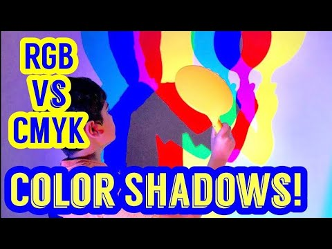 COLOR SHADOWS EXPLAINED & GROUNDED! RGB VS CMYK! ADDITIVE & SUBTRACTIVE COLOR MIXING!
