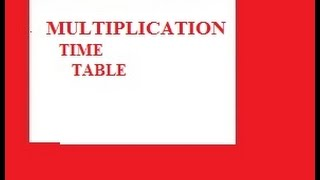 Flash CS6 Tutorial 24 Multiplication Times Table