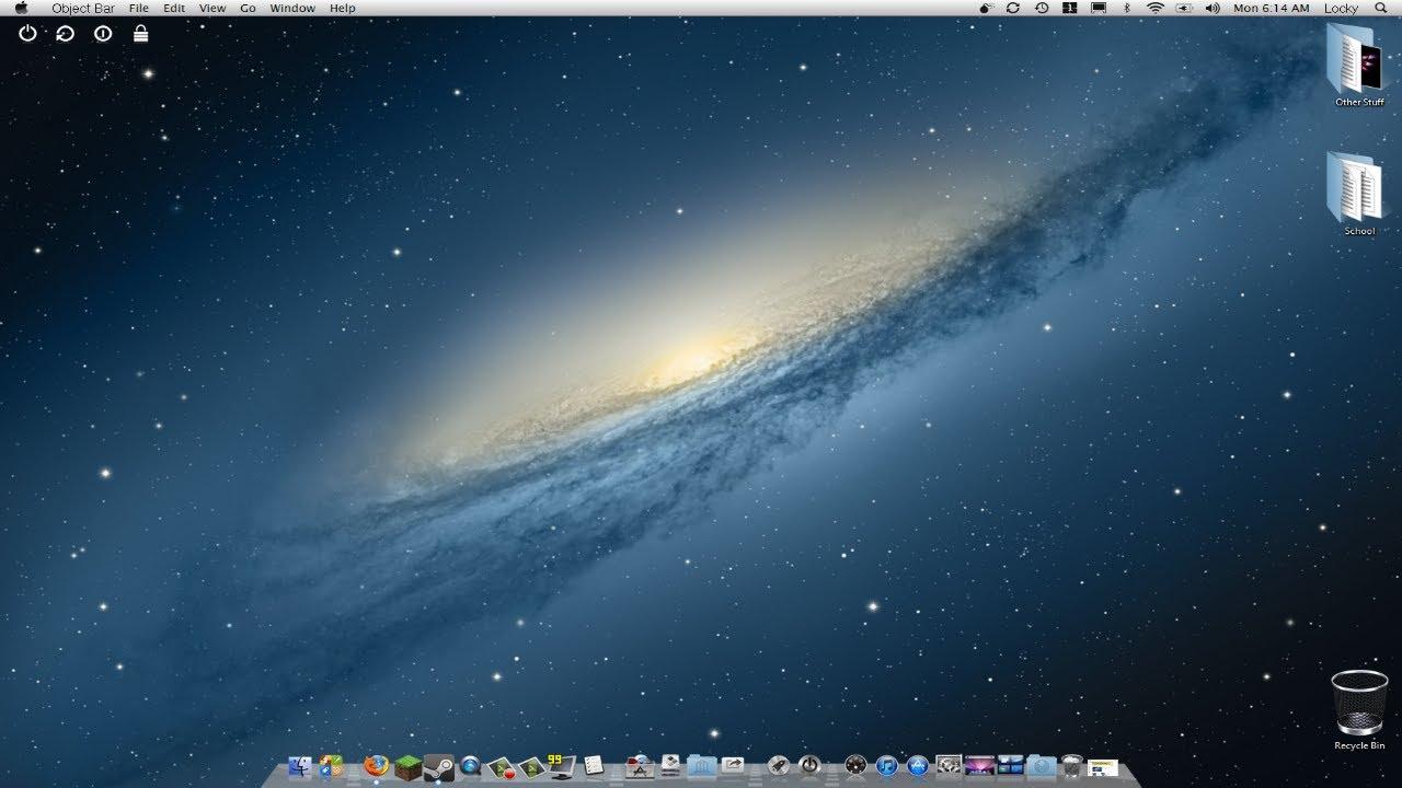 windows 8 look like mac
